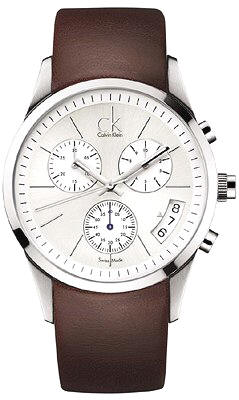 Calvin Klein bold chrono leather, K2247138